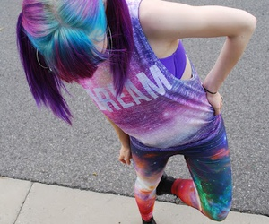 hair, galaxy, and cool image
