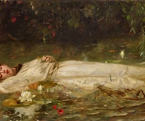 art, ophelia, and painting image