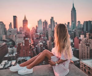 girl, city, and beautiful image