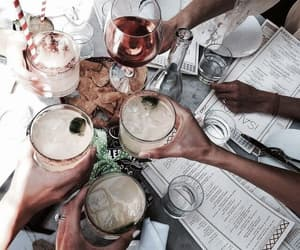 drink, friends, and food image