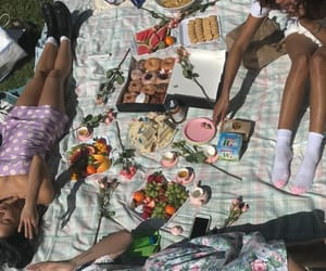 aesthetic, picnic, and girls image