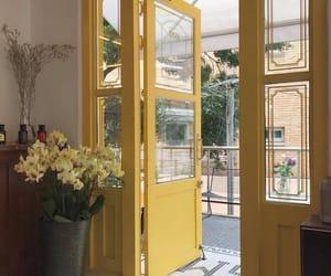 door, summer, and yellow image