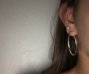 earring, swag, and ear image