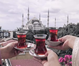 flowers, istanbul, and tea image