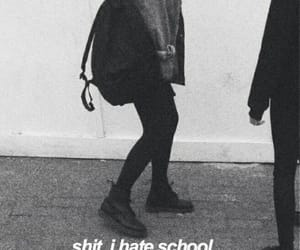 school, stupid, and i hate school image