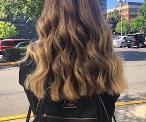 hair, medium, and short image