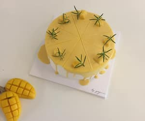 yellow, aesthetic, and cake image