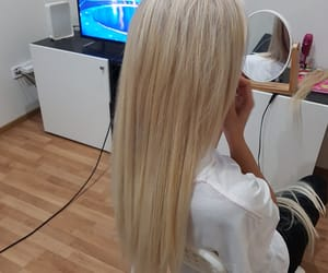 blonde, extensions, and hair image