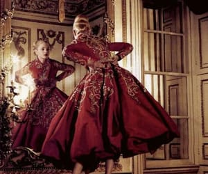 dress, red, and Jessica Stam image