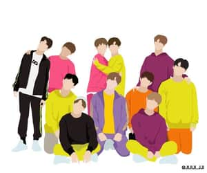 wallpaper, energetic, and wannaone image
