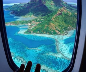 travel, blue, and bora bora image