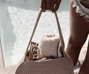 accessories, bag, and beach image
