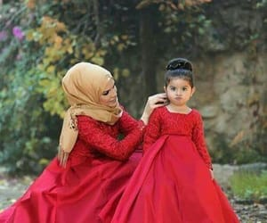 daughter, lovely, and mom image