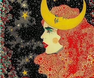 redhead moon goddess art and stars universe moon image