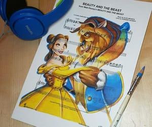 art, beauty and the beast, and music image