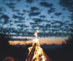 fire, nature, and clouds image
