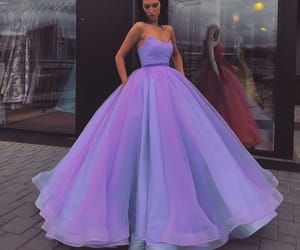 dress, purple, and fashion image