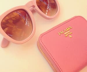 Prada, pink, and sunglasses image
