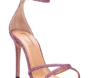 glitter, aquazzura, and pink image