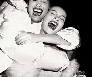 black and white, Christy Turlington, and kate moss image