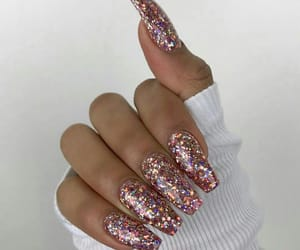 manicure, nails, and gliter image