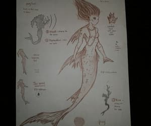 drawing, evil, and mermaid image