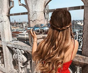 girls, hair, and italy image