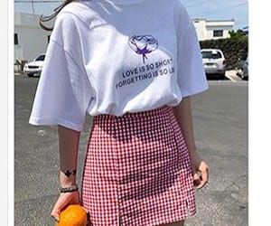 artsy, gingham, and mini skirt image