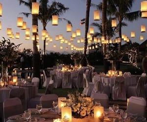 light, wedding, and night image