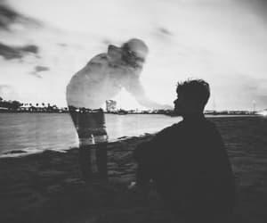 boy, sad, and alone image