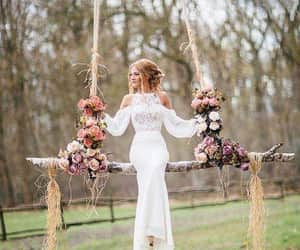 bride, flowers, and pics image
