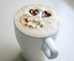 cappuccino, drink, and heart image