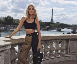 model, elsa hosk, and outfit image
