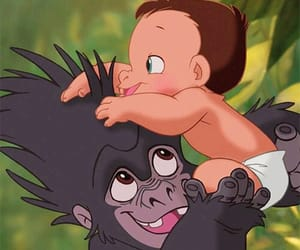 tarzan, disney, and baby image