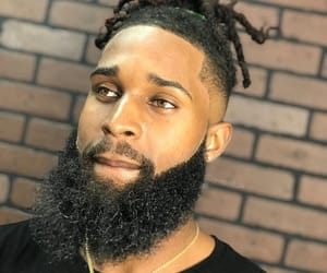 beard, dreads, and male model image