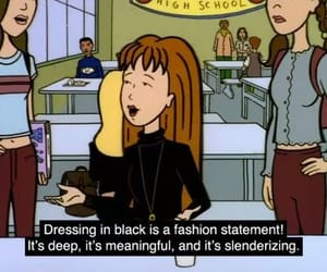 black, Daria, and grunge image