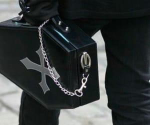 black, coffin, and bag image