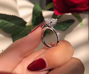 bling, engagement ring, and diamonds image