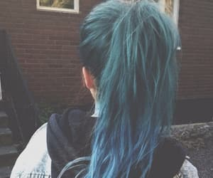 blue, girl, and tumblr image
