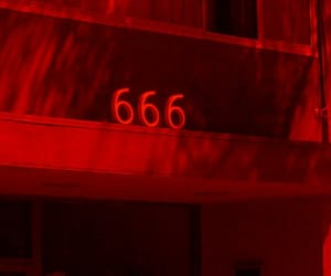 666, red, and grunge image