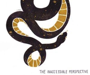 black, gold, and illustration image