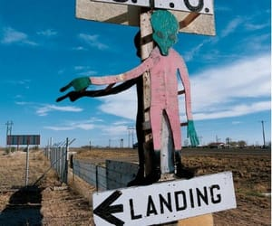 alien, grunge, and landing image