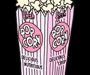 pink, popcorn, and wallpaper image