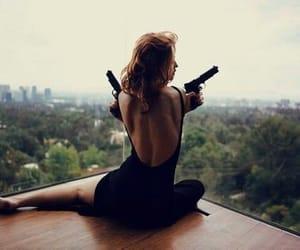 gun, wildfox, and woman image