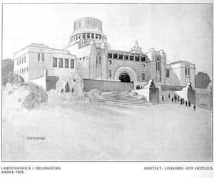 architecture, parliament, and Art Nouveau image