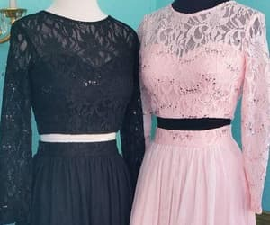 prom dress, prom gown, and 2 pieces prom dress image