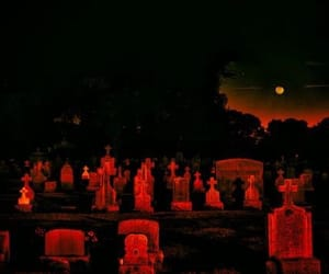 graveyard, red, and aesthetic image