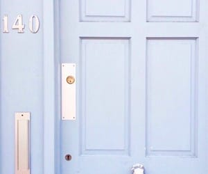 blue, aesthetic, and door image