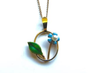 etsy, floral necklace, and flower pendant image