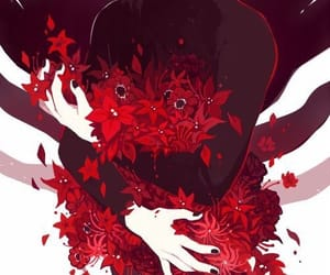 black, red, and kaneki image